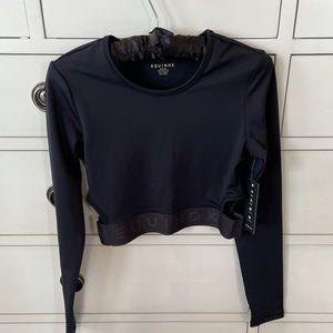 EQUINOX black cutout long sleeve athletic crop top